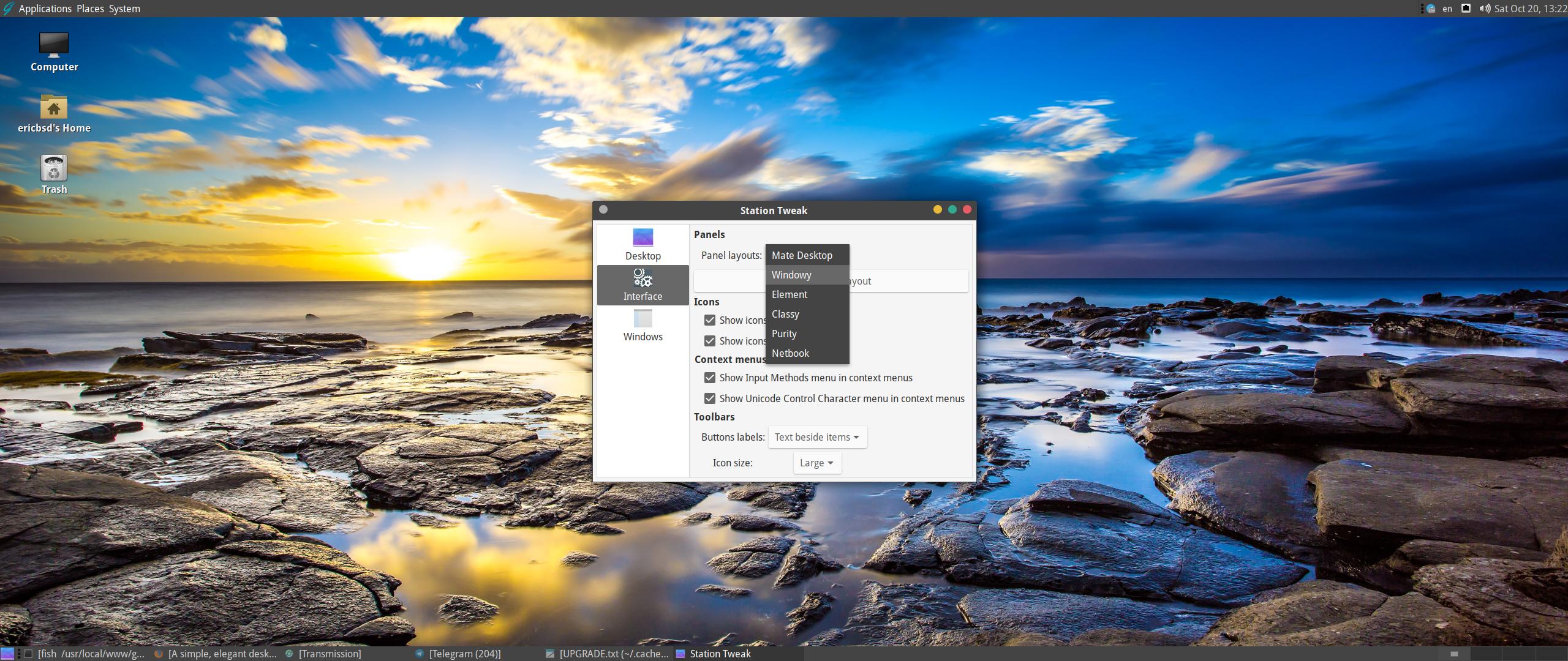 Спустя год разработки сформирован релиз десктоп-ориентированного дистрибутива GhostBSD 18.10, который построен на базе TrueOS с пользовательским окружением MATE.